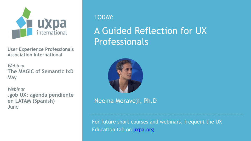 A Guided Reflection for UX Professionals